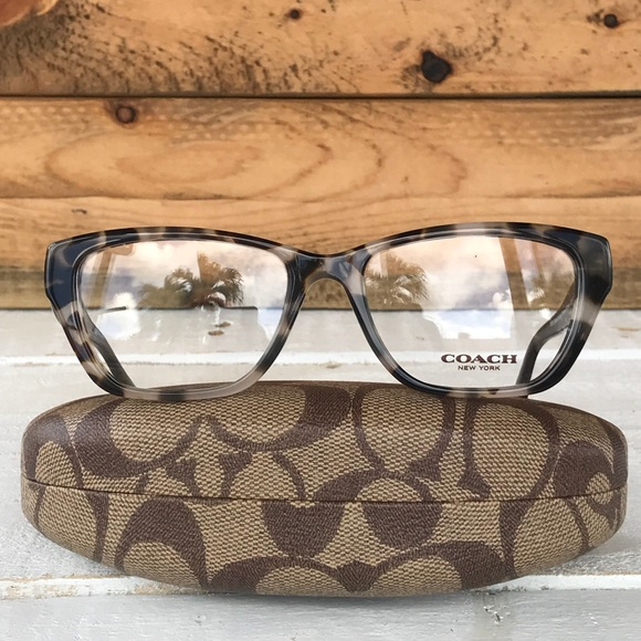 e3249e1e6203b Coach Optical frames snow leopard tortoise 53mm